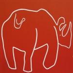 Rhino Backside by Jane Bristowe