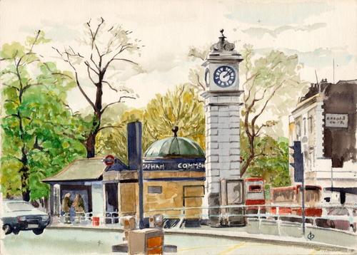 Clocktower at Clapham Common Tube