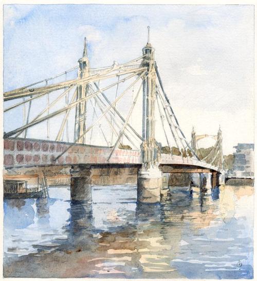 63 Albert Bridge Print