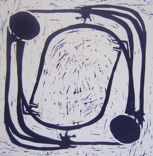 Embrace Linocut by Jane Bristowe