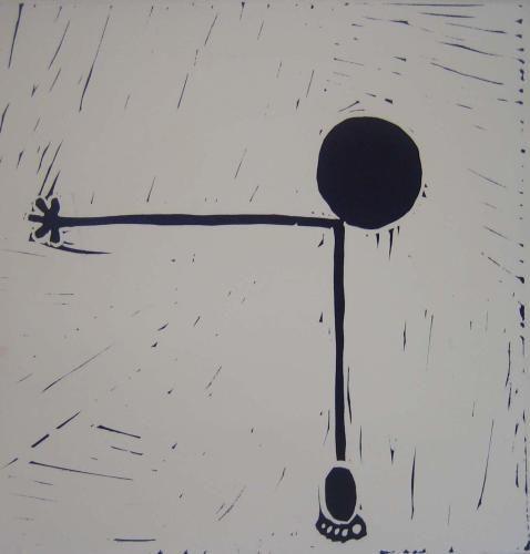 figure Linocut