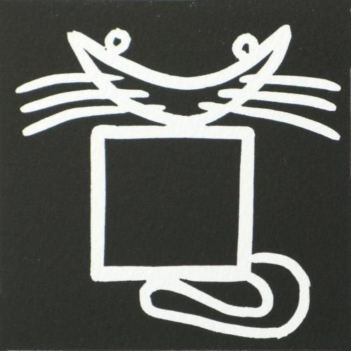 Square Cat Linocut by Jane Bristowe